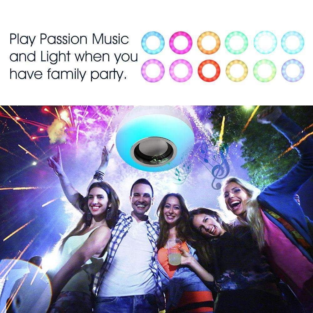 Wireless Remote Control Bluetooth Speaker And LED Light
