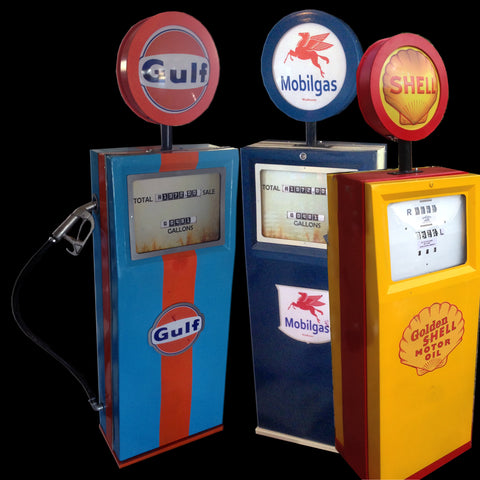 Petrol Pumps - Mobil Sell and Gulf