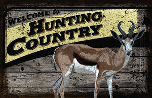 Welcome Hunting Country - Vintage Sign