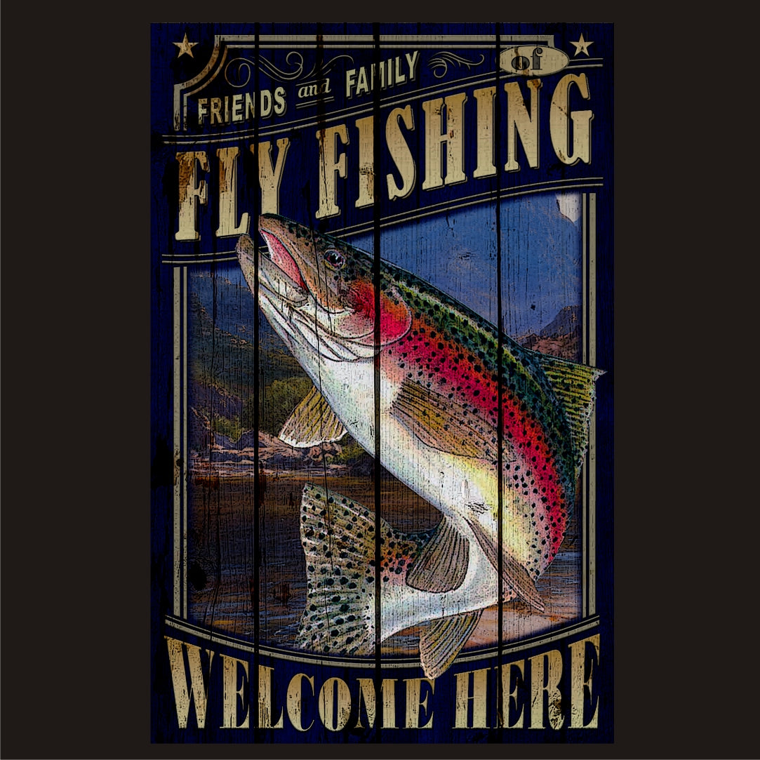 Fly Fishing - Hunting Vintage Sign