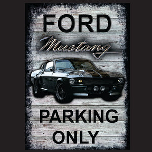 Mustang parking only