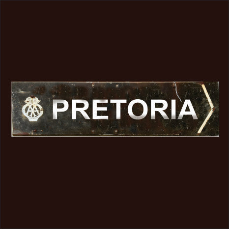 AA pretoria South Africa Vintage Sign