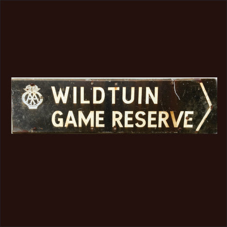 AA Wildtuin South Africa Vintage Sign
