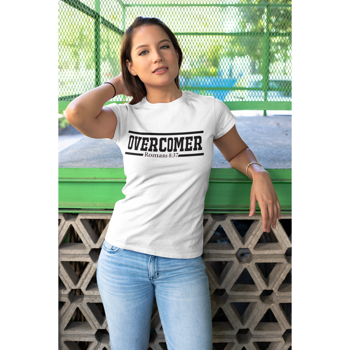 Overcomer womens short sleeve tee