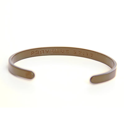 As Iron Sharpens Iron Cuff - Matte Black