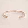 As Iron Sharpens Iron Cuff - Silver