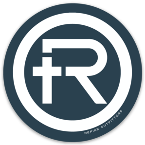 "Refine Outfitters ""R"" Logo Sticker (Navy)"