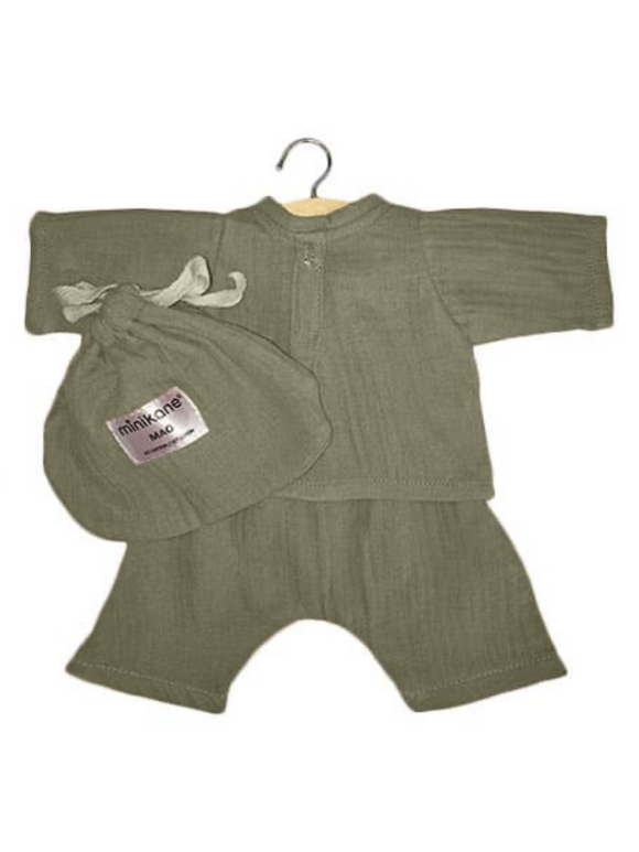Mao Cotton Dolls Clothes Set- Olive