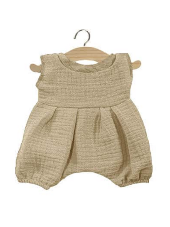 Noa Cotton Dolls Romper- Putty