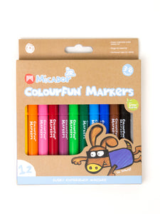 Jr Colourfun Markers - 12 Pack