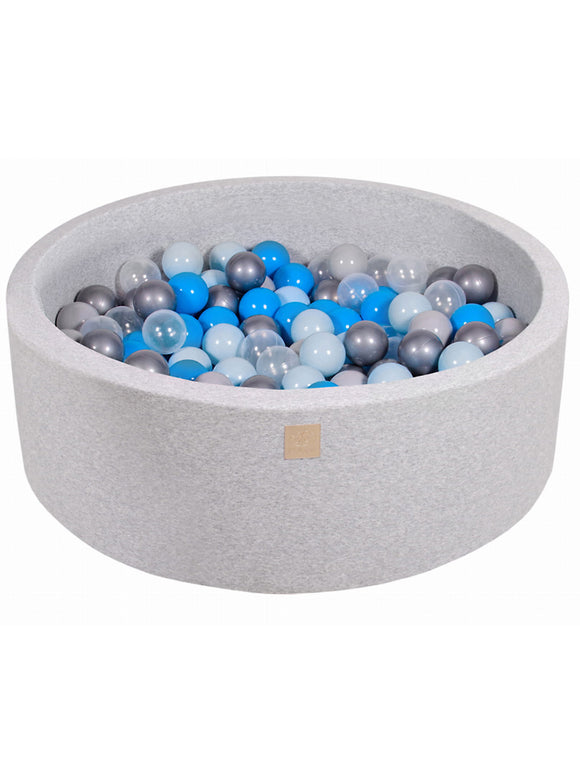Ball Pit- Blue Mix in Light Grey Pit