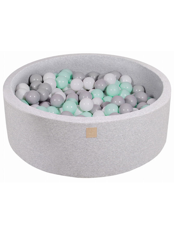 Ball Pit- Mint Mix in Light Grey Pit