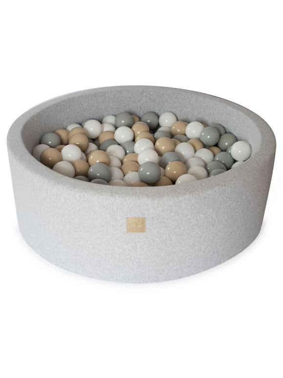 Ball Pit- Beige Mix in Light Grey Pit