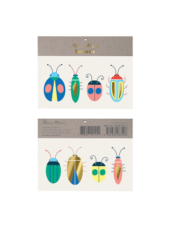 Neon Bugs Temporary Tattoos