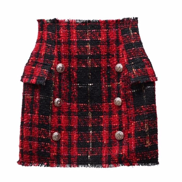 plaid-tweed-skirt