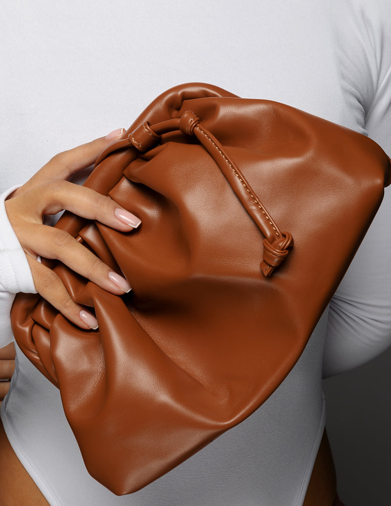 Leather Pouch - Cognac