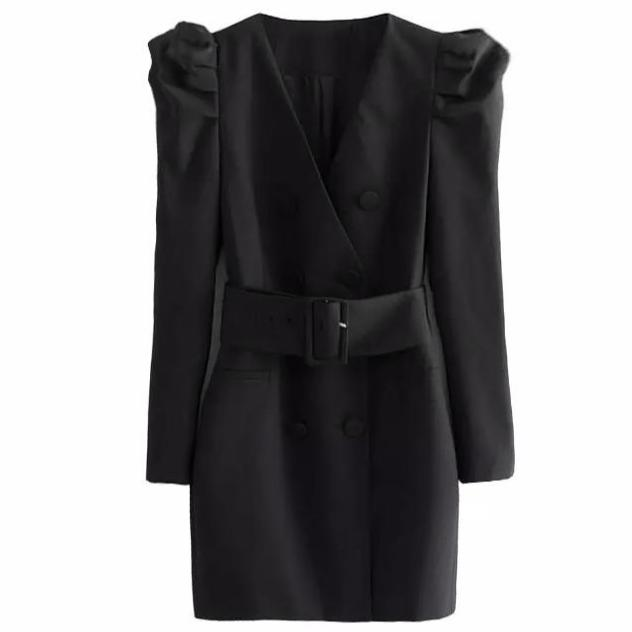 Puff Sleeve Blazer Dress - (PRE-ORDER)