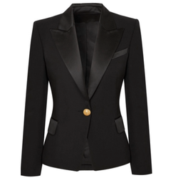 Single Gold Button Blazer