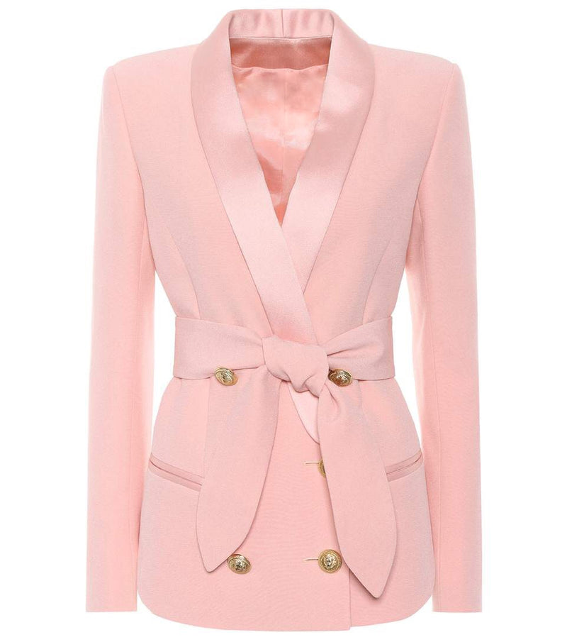 Belted Gold Button Blazer