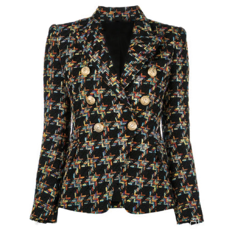 Tweed Button Blazer