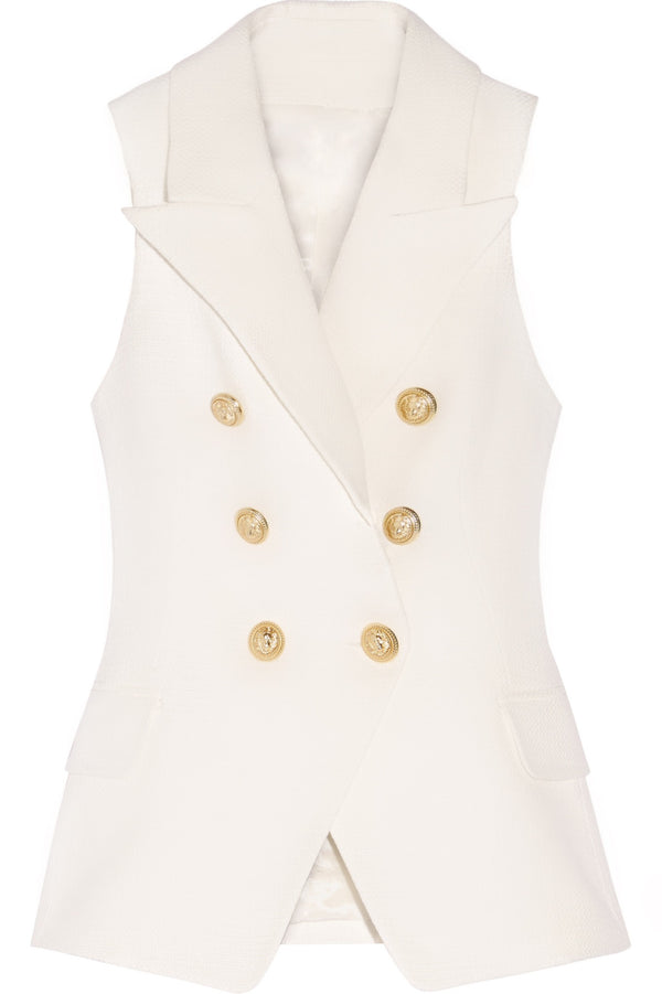 Gold Button Vest
