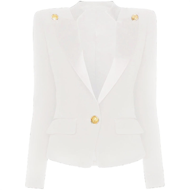 Collar Button Blazer