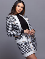 Tweed Houndstooth Jacket