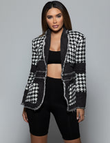 Relaxed Houndstooth Jacket
