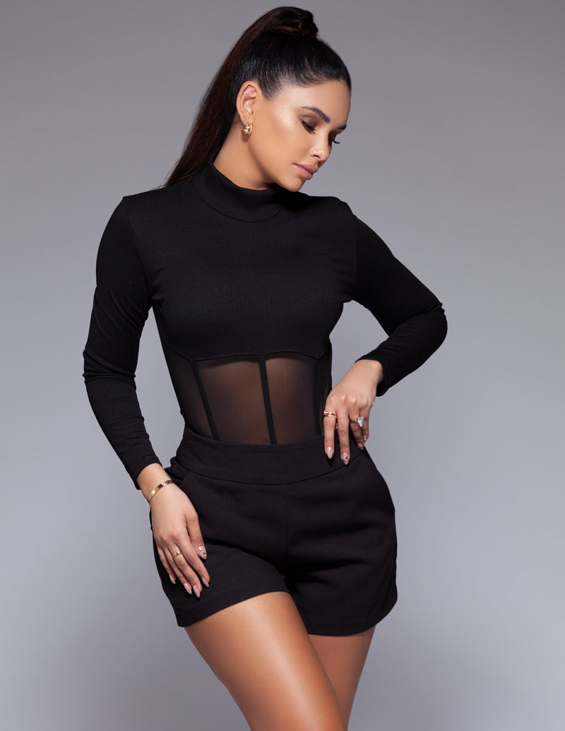 Turtleneck Corset Bodysuit