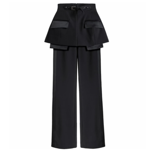 Detachable Peplum Pants