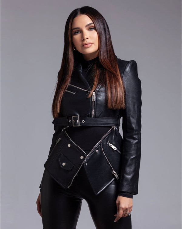 Vegan Detachable Double Leather Jacket