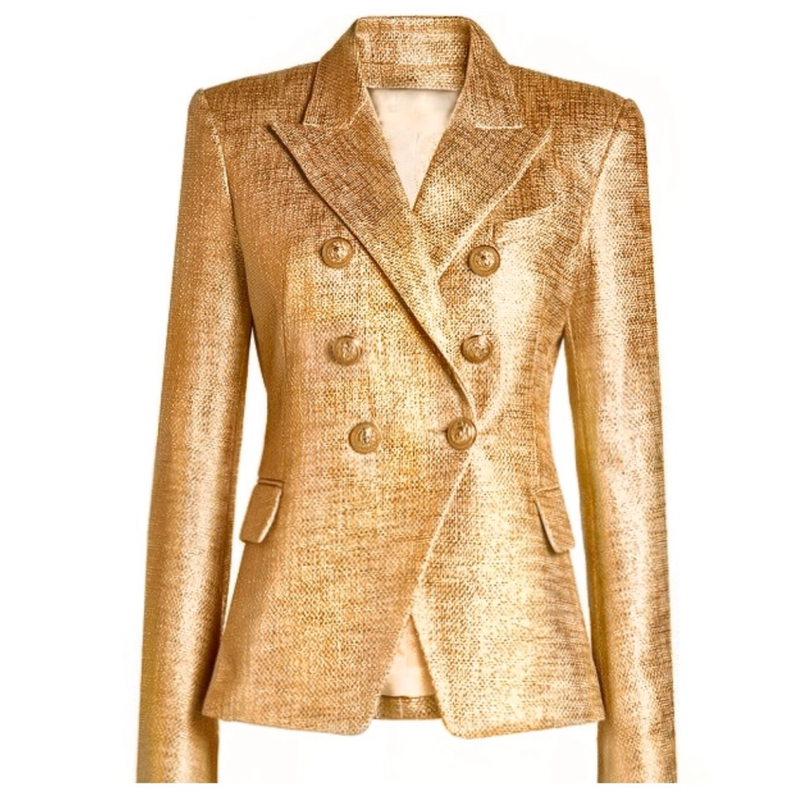 Shimmer Double Breasted Blazer