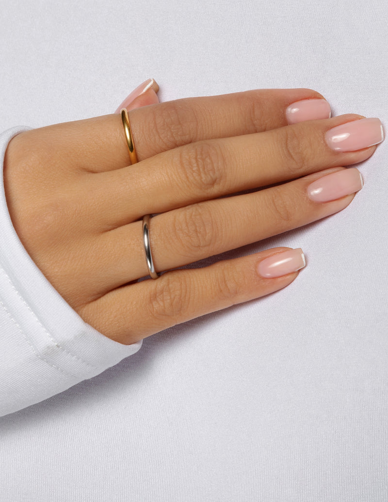 18k Gold Plated 2mm Stacker Ring