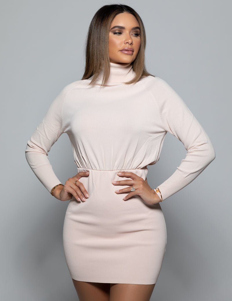 Turtleneck Bandage Dress