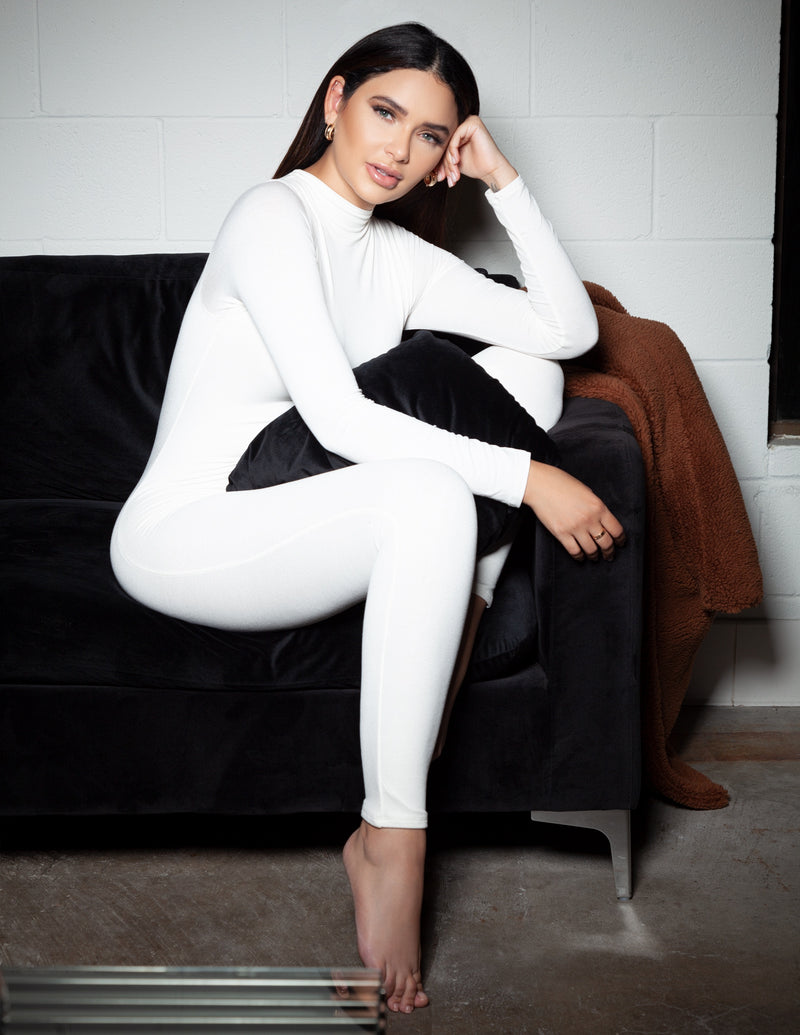 High Neck Long Sleeve Jumpsuit
