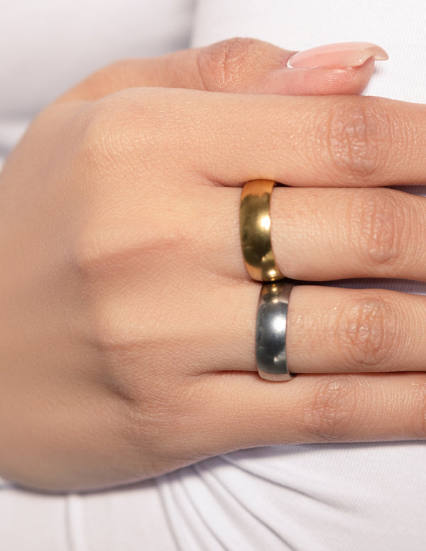 18k Gold Plated 6mm Stacker Ring