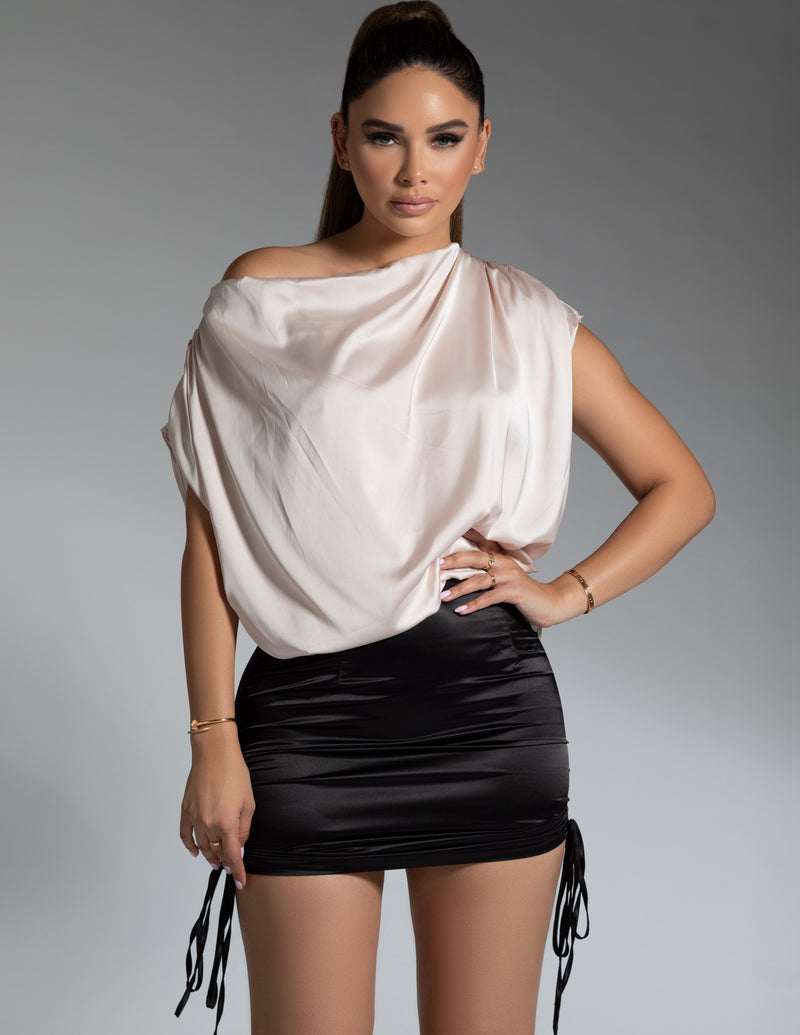 Satin Draped Top