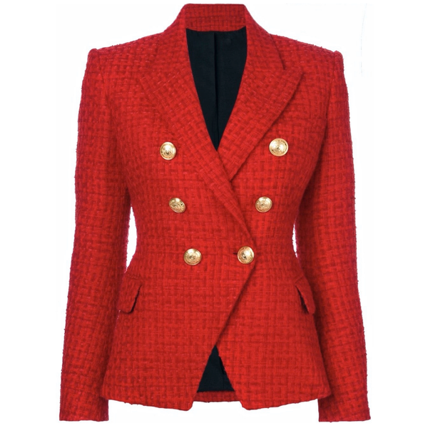Tweed Red Blazer