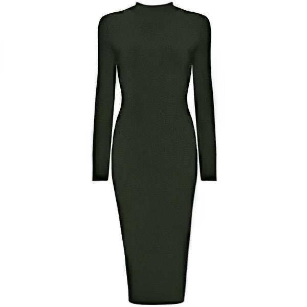 High Neck Midi Dress - 5 Colors