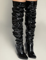 Patent Leather Thigh High Boots