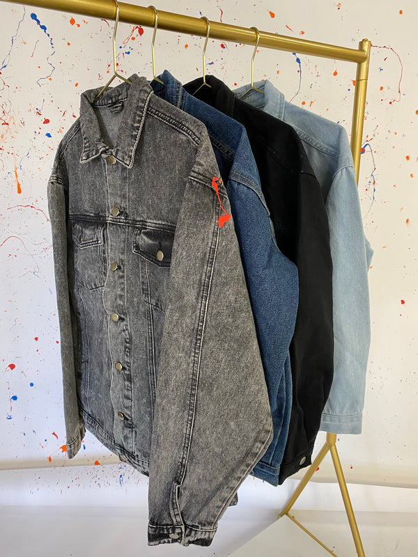 Black Armenia Denim Splatter Jacket