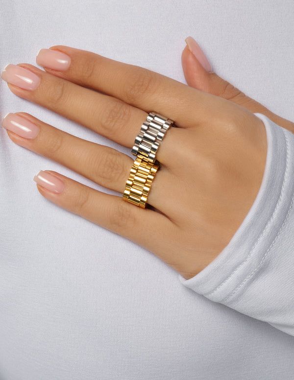 18k Gold Plated Stainless Steel Ring