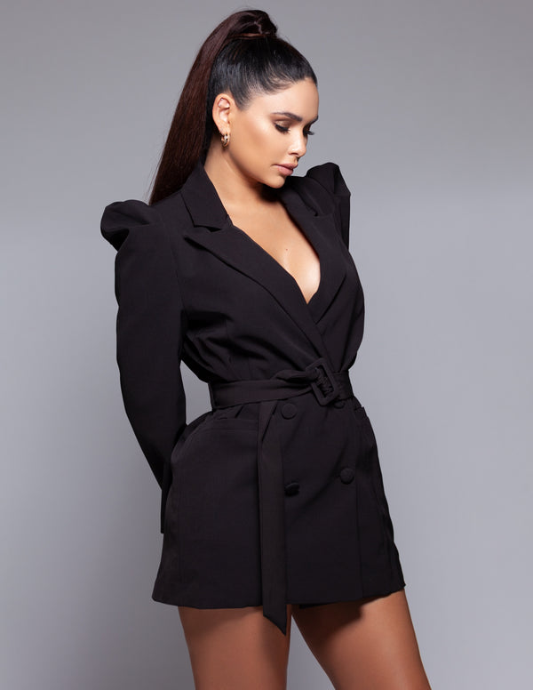 Puff Sleeve Blazer Dress