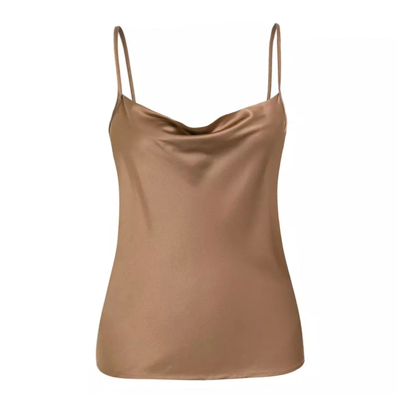 Satin Draped Cami