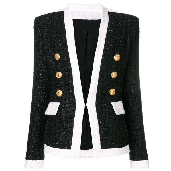 Tweed Black + White Blazer
