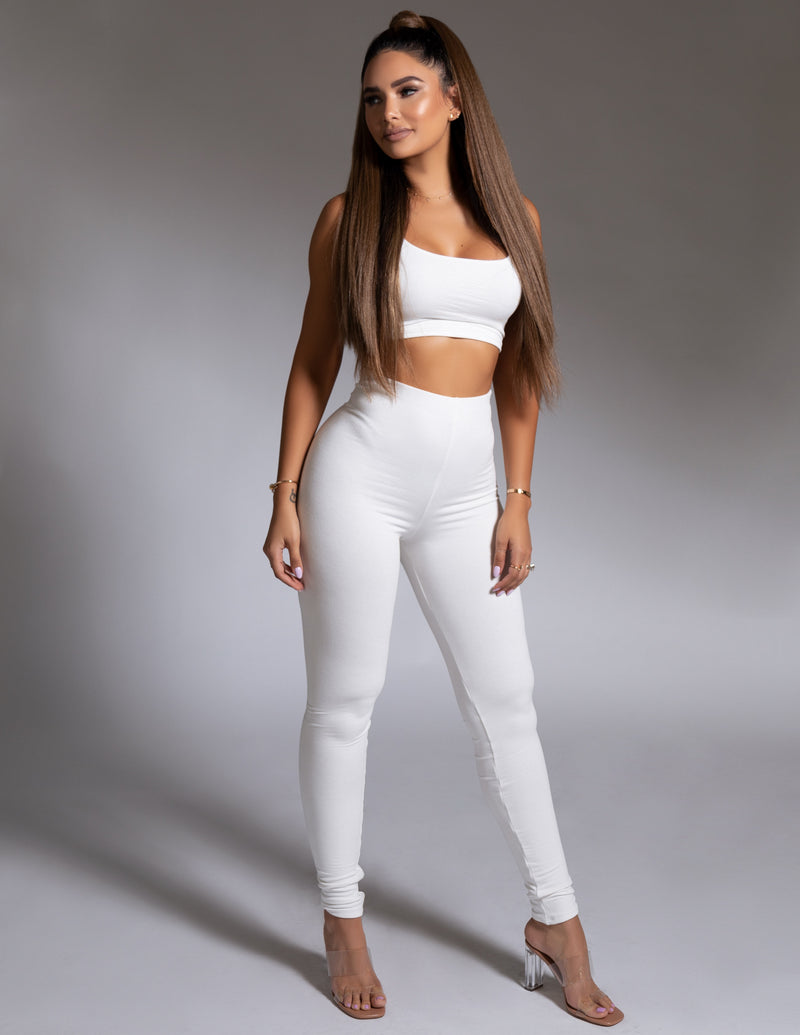 Crop Top + Leggings Set