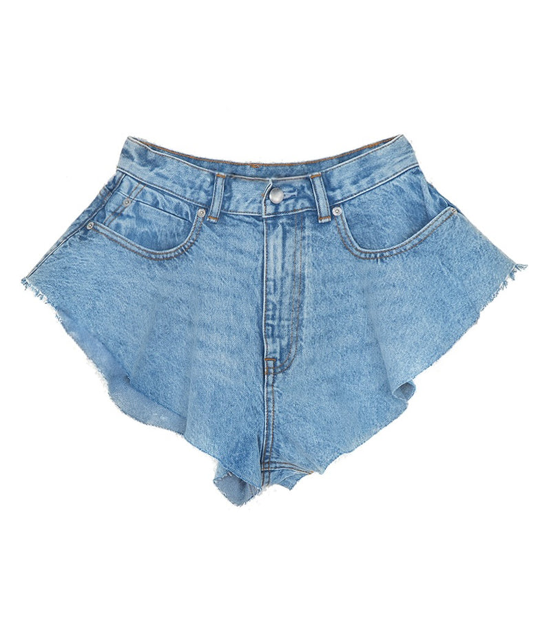 Denim Flare Shorts