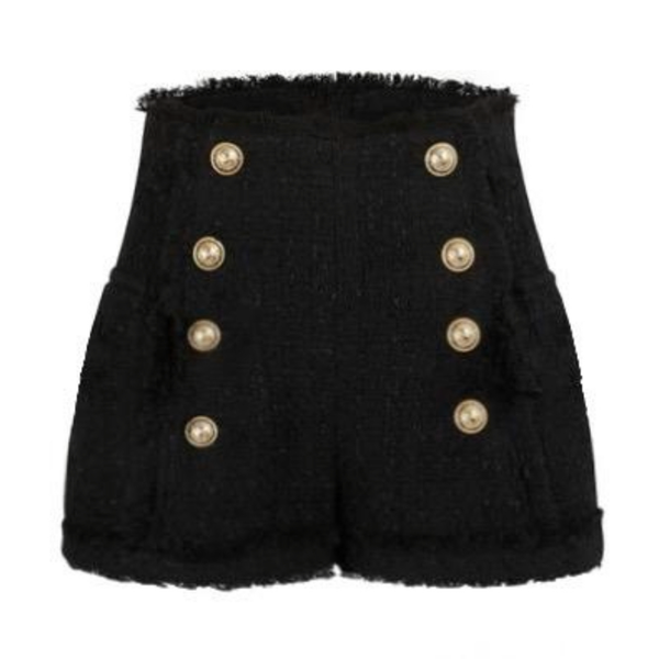 Tweed Button Shorts