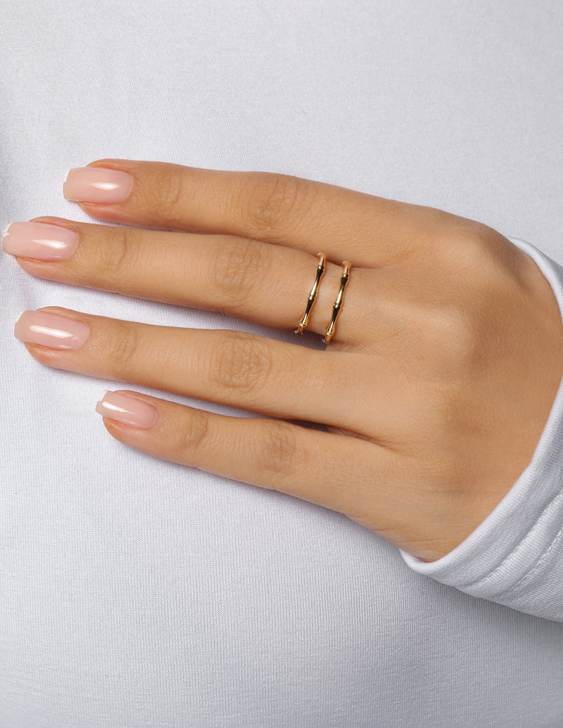 Double Bamboo Bar Ring