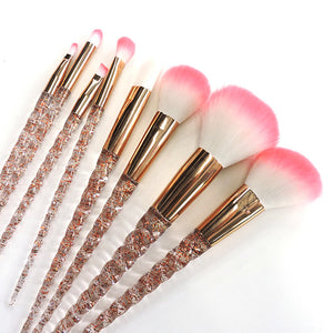 Crystal 8 PCS Rose Gold Unicorn Makeup Brush Set